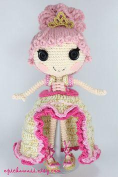 PATTERN Lalaloopsy Goldie Luxe Crochet Amigurumi by epickawaii, $7.99