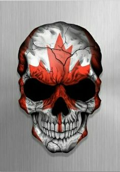 Skull w/ Canadian Flag