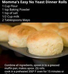 No yeast quick rolls