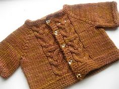 Hoot Cardigan - could be for a girl or a boy! Pattern is $3