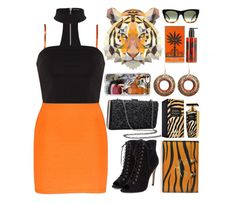 """""""Spirit Animals (Tiger)"""" by soso-alliso ❤ liked on Polyvore featuring Balmain, Charlotte Olympia, CÉLINE, BKE, Urbiana and Casetify"""
