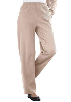 4cc2238bf6923 7-Day Knit Ribbed Straight Leg Pant
