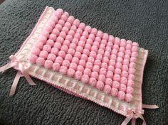 Paz Rodriguez Baby Girls Pink Pram Coat and Bonnet Pom Pom Baby, Pom Pom Rug, Pom Poms, Pink Prams, Loom Blanket, Flannel Baby Blankets, Wool Dolls, Pom Pom Crafts, Cool Rugs