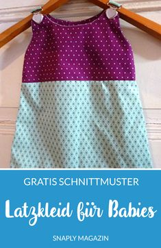Gratis Anleitung & Schnittmuster: Latzkleid für Babies nähen Sew on baby bib dress with this free sewing pattern including DIY instructions from Snaply Baby Clothes Patterns, Sewing Patterns Free, Free Sewing, Clothing Patterns, Dress Patterns, Sewing For Kids, Baby Sewing, Baby Dungarees, Diy Baby Shower Decorations