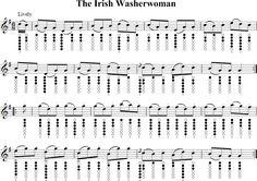 The Irish Washerwoman Sheet Music for Tin Whistle