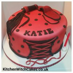 Happy birthday Katie x Airbrushed cake...so much easier, and tastier, than pre coloured fondant