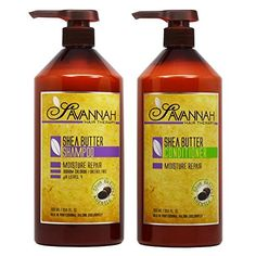 Introducing Savannah Shea Butter Shampoo  Conditioner 338oz Duo Set. Get Your Ladies Products Here and follow us for more updates!