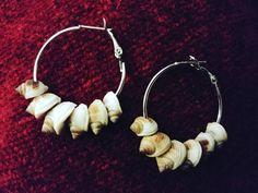 Sea shell earrings by GemesisJewels on Etsy