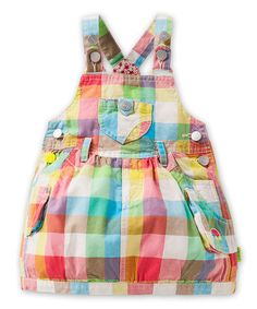 Another great find on #zulily! Rainbow Plaid Druif Jumper - Infant & Girls #zulilyfinds