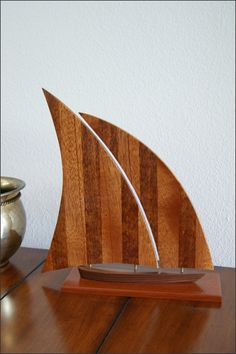 Handcrafted Wood Sailboat Shop Now: http://www.woodsmithofnaples.com/Handcrafted-Wood-Sailboat-p/7458.htm