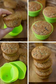 Lightly spiced bran muffins filled with garden fresh zucchini. These zucchini bread bran muffins are excellent on their own, but are even better with chunks of chopped walnuts or chocolate! Simple Muffin Recipe, Healthy Muffin Recipes, Healthy Muffins, Healthy Snacks, Zucchini Cookies, Zucchini Muffins, Zucchini Bread, Best Greek Yogurt, Banana Bran Muffins