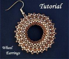 Beading TUTORIAL Wheel Earrings