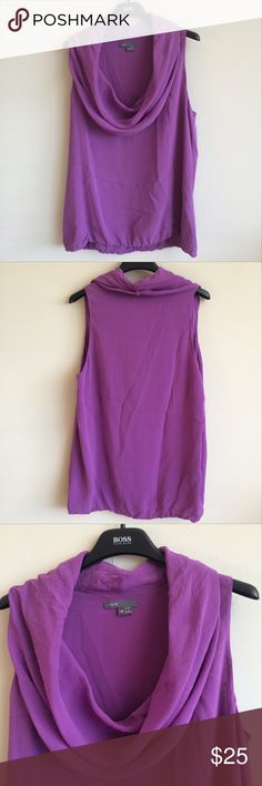 Vince top Purple Vince cowl neck top. Top is a size 12. 91% silk, 9% spandex. Dry clean only. Excellent used condition with no rips, tears or stains. Vince Tops Blouses