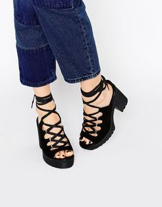 Add these lace-up cuties to denim for an outfit the 90s would be really proud of.