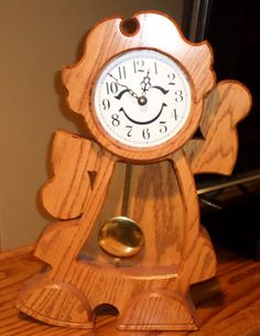 Clock: (it's a girl)These whimsical clocks would be a very nice addition to your mantle or in a child's bedroom. on Etsy, $139.00