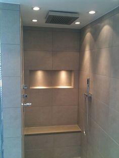Complete bathroom with shower, double vanity and toilet in Solingen .- Komplettbad mit Dusche, Doppelwaschtisch und WC in Solingen Bathroom Layout, Bathroom Interior, Modern Bathroom, Small Bathroom, Bathroom Art, Vanity Bathroom, Master Bathroom, Bathroom Ideas, Bathroom Bench