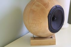 "This speaker from STUDIO AU uses two Ikea 'Blanda Matt' 28cm birch bowls, Peerless 6.5"" drivers and gold plated interconnectors."