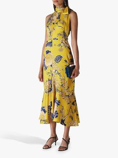 Buy Whistles Peria Exotic Floral Dress, Yellow/Multi from our Women's Dresses range at John Lewis & Partners. Yellow Bridesmaid Dresses, Bridesmaids, Dress Shapes, Ladies Dress Design, Dress Codes, Yellow Dress, Occasion Dresses, Dresses Online, Designer Dresses