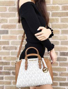 Michael Kors Ciara Medium Messenger PVC Leather for sale online Fashion Bags, Fashion Accessories, Beauty Tips For Girls, Balenciaga Handbags, Sweetheart Prom Dress, Best Purses, Signature, Mk Purse, Beautiful Handbags