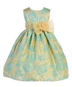 Look what I found on #zulily! Turquoise Floral A-Line Dress - Infant, Toddler & Girls #zulilyfinds