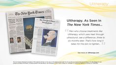 """""""Men who choose treatments like Ultherapy, which uses heat through ultrasound…see a difference…three to six months later. That's how long it takes for the skin to tighten..."""" #Ultherapy #UnderChinLift #NYtimes"""