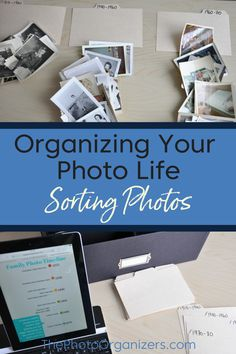 An important part of organizing your family pictures is when you start sorting photos. Tips on how to sort printed photos from The Photo Organizers Old Family Photos, Old Photos, Family Pictures, Picture Storage, Digital Foto, Foto Fun, Book Organization, Organizing Life, Organising