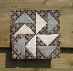 """D-2 Block 35  """"Mail Delivery"""" Quilt at Home: Civil War Diary Quilt"""