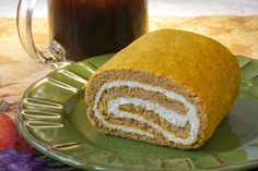 Parke County Pumpkin-Cream Cheese Roll Low-Carb Recipe From CarbSmart Low-Carb & Gluten-Free