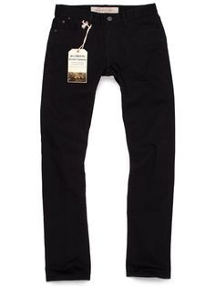 MADE IN USA BLACK BLACK SKINNY STRETCH JEANS - S 4TH ST from Williamsburg