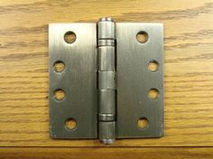 """4"""" x 4"""" with Square Corners Antique Brass Commercial Ball Bearing Hinge - Sold in Pairs"""