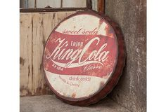 Old Fashioned Cola Metal Advertising Sign - eclectic - artwork - atlanta - Iron Accents Antique Farmhouse, Industrial Farmhouse, Farmhouse Style, Modern Farmhouse, Advertising Signs, Vintage Advertisements, Vintage Ads, Vintage Style, Park Hill Collection