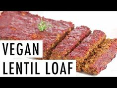 Jan 2019 - This festive vegan lentil loaf is packed with flavor and makes for a lovely vegetarian main-entree for a holiday meal. Gluten-free and loaded with fiber! Tasty Vegetarian Recipes, Lentil Recipes, Vegan Dinner Recipes, Vegan Dinners, Gourmet Recipes, Vegan Vegetarian, Cooking Recipes, Sin Gluten, Gluten Free