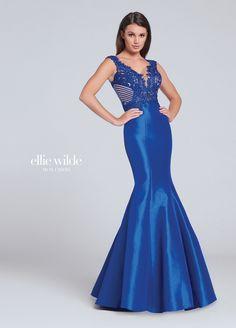 ELLIE WILDE EW117047 Lace & Stretch Taffeta