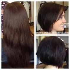 Linda transformação!  #cabeloscurtos #pelocorto #mulheres