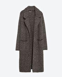 HERRINGBONE COAT-View all-Outerwear-WOMAN | ZARA United States