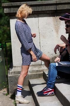boy socks are trendy in Paris and I won't be there this fall to see it. I can live with that. thesartorialist.com
