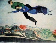 """Arte del siglo XX: """"Por encima de la ciudad"""" de Marc Chagall"""