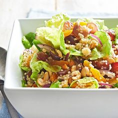 Honey-Soaked Quinoa Salad with Grapes and Cashews