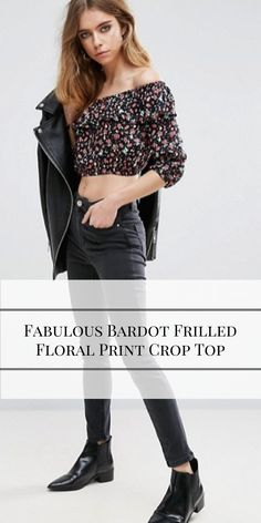 Trendy Bardot Frilled Floral Print Crop Top (Affiliate) http://shopstyle.it/l/oMA  Summer Outfits, Summer Outfits Women, Summer Outfits 2017, Summer Outfits For vacation, Summer Outfits boho, Casual Outfits, Casual Outfits Spring, Casual Outfits Summer, Casual Outfits For teens, Fashion, Fashion style, Fashion 2017, Fashion Style women, Fashion Style summer