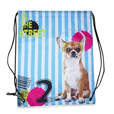 Nylon Drawstring Backpack A Collection Chihuahua Blue *** You can find more details by visiting the image link. (This is an affiliate link) Yoga Shoes, Chihuahua, Drawstring Backpack, Image Link, Backpacks, Store, Blue, Collection, Larger