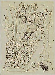 Letter to Paul Eluard by Yves Tanguy   [1933]    via Semiotext(e) Vol. lll, No. 2, 1978 (via)