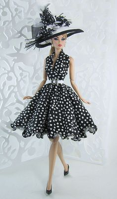 Black Polkadot Fashion Doll - ©Gwendolyns Treasures www.flickr.com/photos/48201406@N03/7844966188/