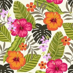 Tropical Fiesta - Wallpaper Tiles - tropical - Wallpaper - Design Your Wall