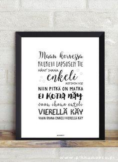 Lastenlaulut ja lorut – Pikkunorsu Always On My Mind, Future Goals, Kids Songs, God Is Good, Christening, Letter Board, Hand Lettering, Best Quotes, Texts