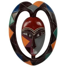 Shop unique, award-winning Artisan treasures by NOVICA, the Impact Marketplace. Each original piece goes through a certification process to guarantee best value and premium quality. African Masks, Season Colors, Ghana, Decorative Accessories, Horns, Heart Shapes, Sculptures, Wall Decor, Carving