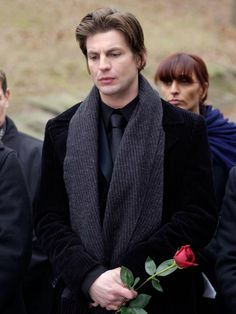 Queer as folk, Brian at funeral of Vic. Queer As Folk, Randy Harrison, Brian Kinney, Brian And Justin, Love Is My Religion, Gale Harold, Taylor Kitsch, Rotten Tomatoes, Celebrity Gallery