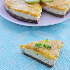 ... cream, cashew filling, a almond crust, and mango topping, Gluten free