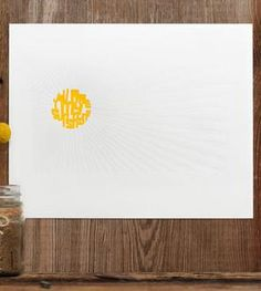 You Are My Sunshine Letterpress Print
