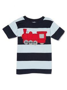 Train Stripe Tee by Mulberribush on sale now on Gilt.