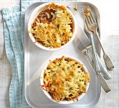 Top lamb mince and vegetables with a grated potato and cheese topping and serve in individual dishes for a delicious dinner for two Mince Recipes, Lamb Recipes, Savoury Recipes, Hot Pot, Bbc Good Food Recipes, Cooking Recipes, How To Cook Lamb, Potato Toppings, Lamb Stew